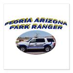 Peoria Ranger Square Car Magnet 3