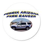 Peoria Ranger Round Car Magnet