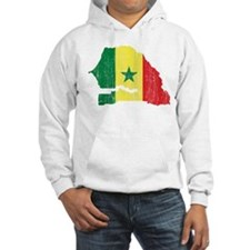 Senegal Flag And Map Hoodie