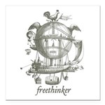 "Freethinker Square Car Magnet 3"" x 3"""
