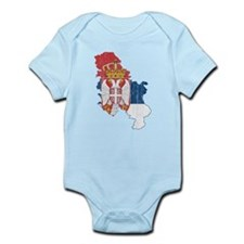 Serbia Flag And Map Onesie