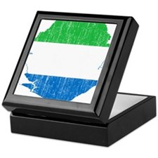 Sierra Leone Flag And Map Keepsake Box