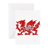 CYMRU DRAGON RED PLASTIC BLACK SHADOW.png Greeting