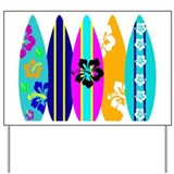Surfboards Yard Sign