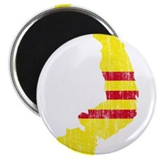 """South Vietnam Flag And Map 2.25"""" Magnet (100 pack)"""