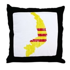 South Vietnam Flag And Map Throw Pillow