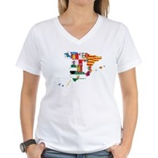 Spain Subdivisions Flag And Map Shirt