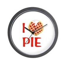 I Love Pie Wall Clock
