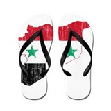 Syria Flag And Map Flip Flops