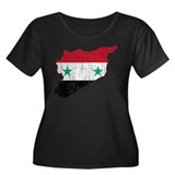 Syria Flag And Map Women's Plus Size Scoop Neck Da