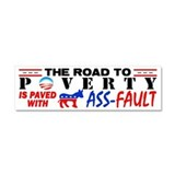 &amp;quot;Road To Poverty&amp;quot; Car Magnet