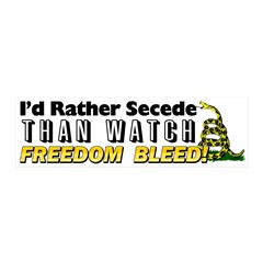 """""""I'd Rather Secede"""" 20x6 Wall Decal"""