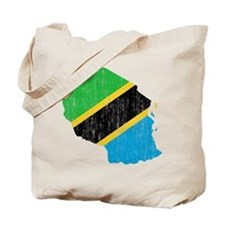 Tanzania Flag And Map Tote Bag