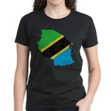 Tanzania Flag And Map Tee