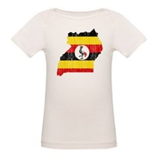 Uganda Flag And Map Tee