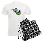 Blue Call Ducks Men's Light Pajamas