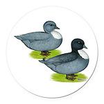 Blue Call Ducks Round Car Magnet