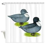 Blue Call Ducks Shower Curtain