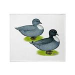 Blue Call Ducks Throw Blanket