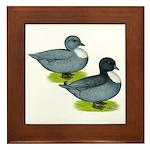 Blue Call Ducks Framed Tile