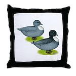 Blue Call Ducks Throw Pillow