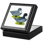 Blue Call Ducks Keepsake Box