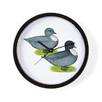 Blue Call Ducks Wall Clock