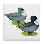 Blue Call Ducks Tile Coaster