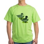 Blue Call Ducks Green T-Shirt