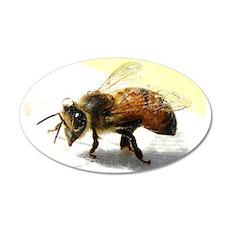 honeybee 20x12 Oval Wall Decal