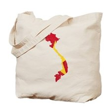 Vietnam Flag And Map Tote Bag