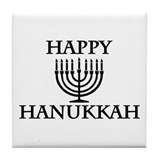 Happy Hanukkah Tile Coaster