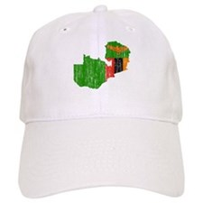 Zambia Flag And Map Baseball Cap