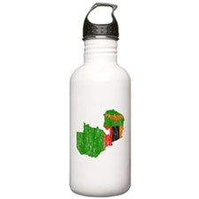 Zambia Flag And Map Water Bottle