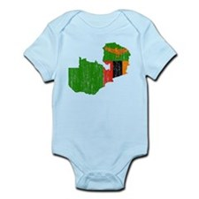 Zambia Flag And Map Infant Bodysuit