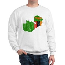 Zambia Flag And Map Sweatshirt