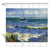Van Gogh - Seascape Shower Curtain