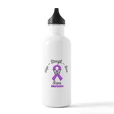 Hope Love Strength Lupus Water Bottle