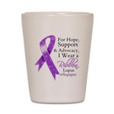 Hope Support Lupus Shot Glass