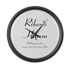 Riker's Harem Large Wall Clock