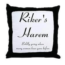 Riker's Harem Throw Pillow