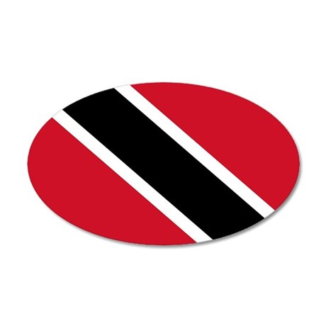 Trinidad and Tobago Flag 35x21 Oval Wall Decal