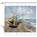 Van Gogh Fishing Boats Shower Curtain