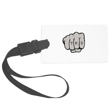 Martial Arts TKD Fist Large Luggage Tag