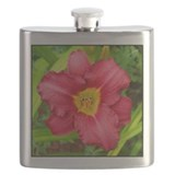 Crimson Daylily Flask