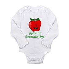 Apple Of Grandpas Eye Long Sleeve Infant Bodysuit