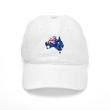 Australia Flag And Map Baseball Cap