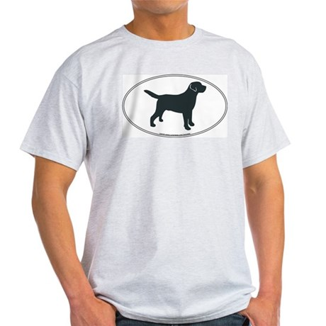 Labrador Retriever Silhouette Ash Grey T-Shirt
