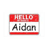 Hello My name is Aidan Wall Decal