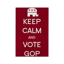 Keep Calm and Vote GOP Rectangle Magnet